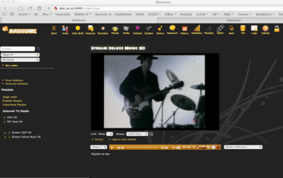 Screenshot of Enigma HD Stream transcoded to 1Mbit/s by MadSonic